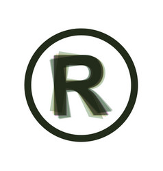 Registered trademark sign  colorful icon vector