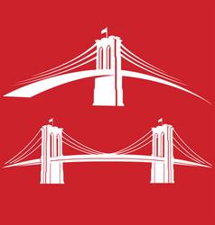 Brooklyn red vector