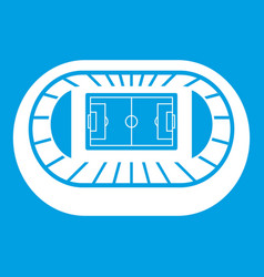 Stadium top view icon white vector