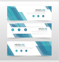 blue abstract corporate business banner template vector image