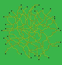 Computer circuit board vector