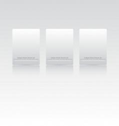 website menu templates vector image