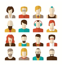 Stylized character people avatars vector