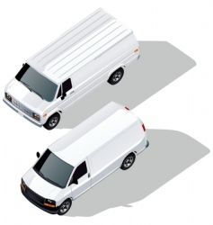 Delivery van isometric vector