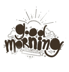 Good morning inscription vector