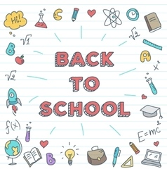 Back to school  bright study vector