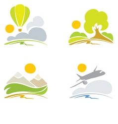 collection signs - nature and sky vector image