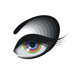Coloured eye vector