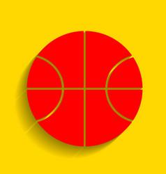 Basketball ball sign red vector