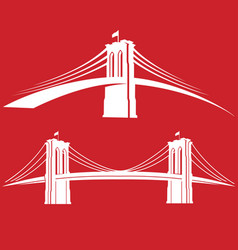 brooklyn red vector image