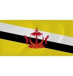 Brunei waving flag vector image vector image