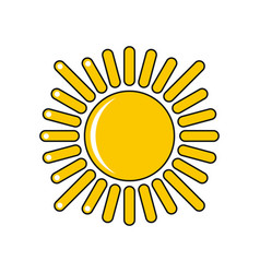 Cartoon sun icon isolated on white background vector