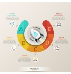 Circle arrows infographic for startup vector