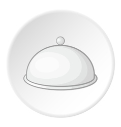 Cloche icon cartoon style vector