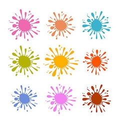 Colorful splash - stain - blot set vector