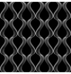 Design seamless monochrome twisting pattern vector