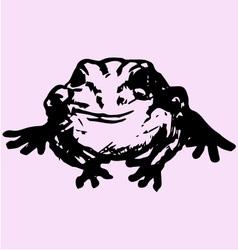 edible frog vector image vector image