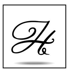 Elegant handmade alphabet vector image