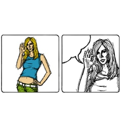 female vector image vector image
