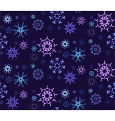 Figured snowflakes pattern vector