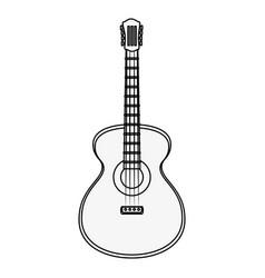 Guitar instrument icon vector