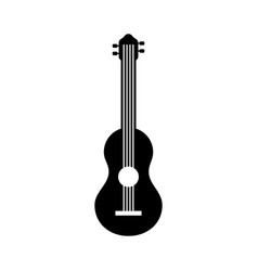 guitar instrument music acoustic sound vector image vector image