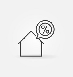 house with discount icon vector image vector image