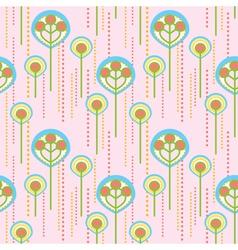 lollipop trees pattern vector image vector image