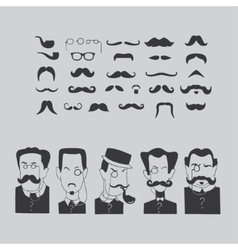 Mustache and intellectuals vector