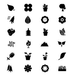 Nature Icons 1 vector image vector image