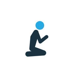 prayer colorful icon symbol premium quality vector image