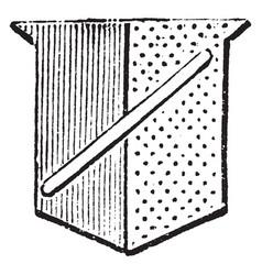 Shield showing baton is borne in the escutcheons vector