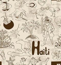 Sketch Haiti seamless pattern vector image