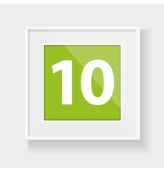 Square frame with number ten vector