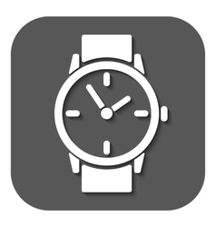 The watch icon Clock and wristwatch timer time vector image