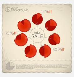 Total sale diagram set vector