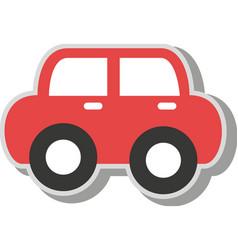 Vintage car kid toy icon vector