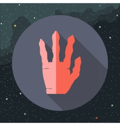 Digital with red alien hand vector image