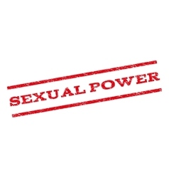 Sexual power watermark stamp vector