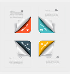 Design template with elements and icons vector