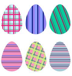 Striped eggs vector