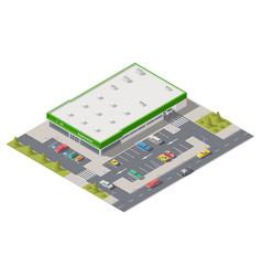 Element infographics representing a supermarket vector