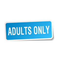 Adults only square sticker on white vector