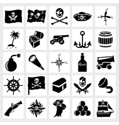 icon set piracy vector image