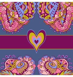 Colorful abstract love card vector