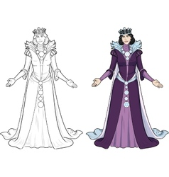 Winter queen beautiful female character vector