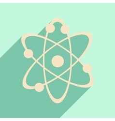Flat with shadow icon and mobile application atoms vector