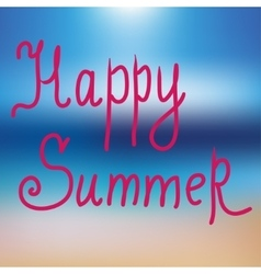 Happy summer poster on blue mesh background vector