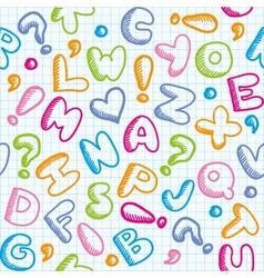 A Alphabet Design Alphabet pattern vector