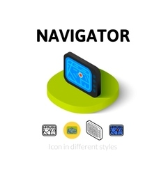 Navigator icon in different style vector